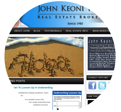 John Welch Hawaii Real Estate http://johnwelch.mysmartblog.com