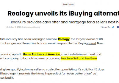 Realogy Announces iBuyer AND iMortgage Platforms!